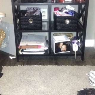 Black Makeup/storage Table