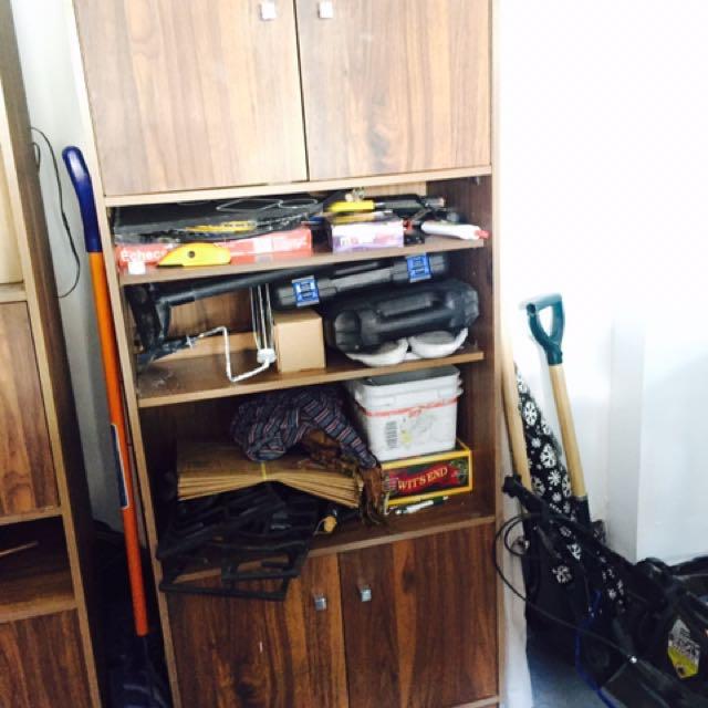 4 Wooden Brown Shelves