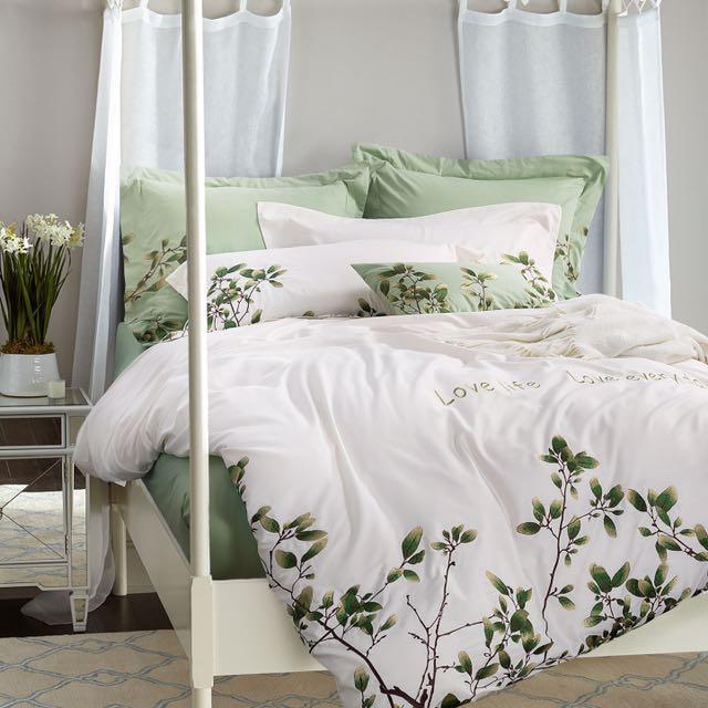 60S長絨棉貢緞刺繡床罩組