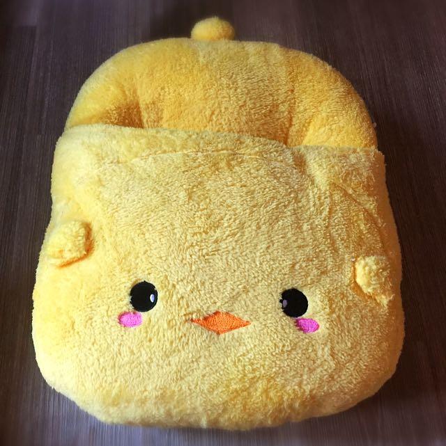 小黃啾啾暖腳套枕