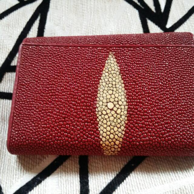 女妝紅珍珠魚皮中夾