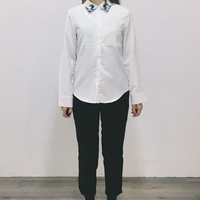 浮世繪海浪領襯衫
