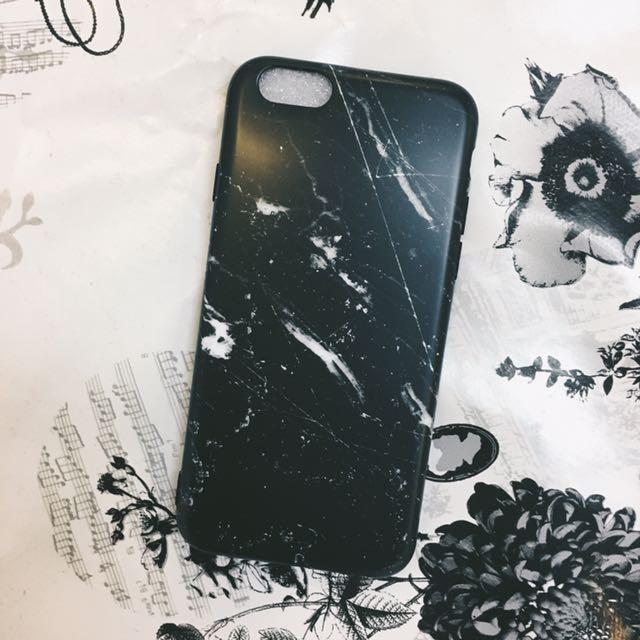 iPhone 6/6s 大理石全黑軟殼
