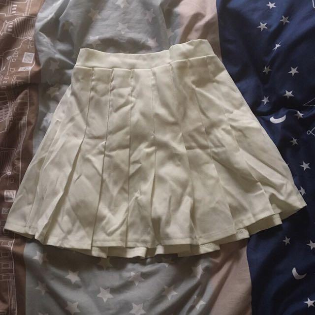 全新*白色網球短裙