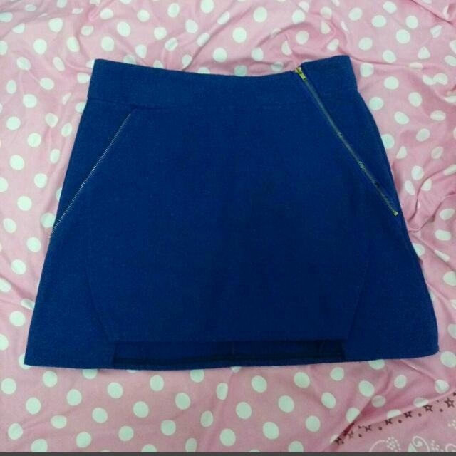 全新 毛倪寶藍造型裙