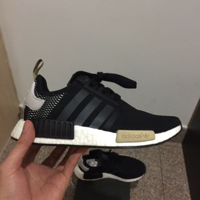 fd4b21044 ... reduced adidas nmd r1 mesh black ice purple w womens fashion shoes on  carousell 2347d f054b
