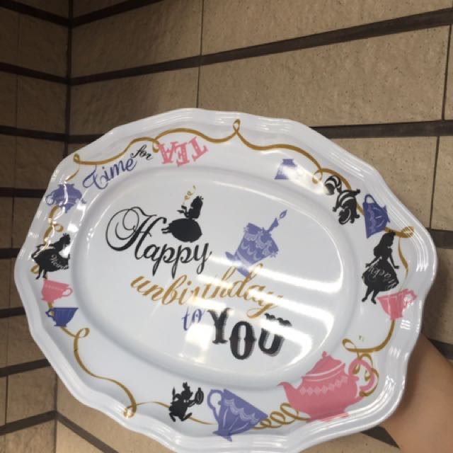 Afternoon Tea Alice 塑膠長型水果盤 只有一個