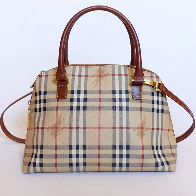 cb93fbfcc4f7 💯%Authentic BURBERRY Haymarket Check two-say Bag, Luxury, Bags ...