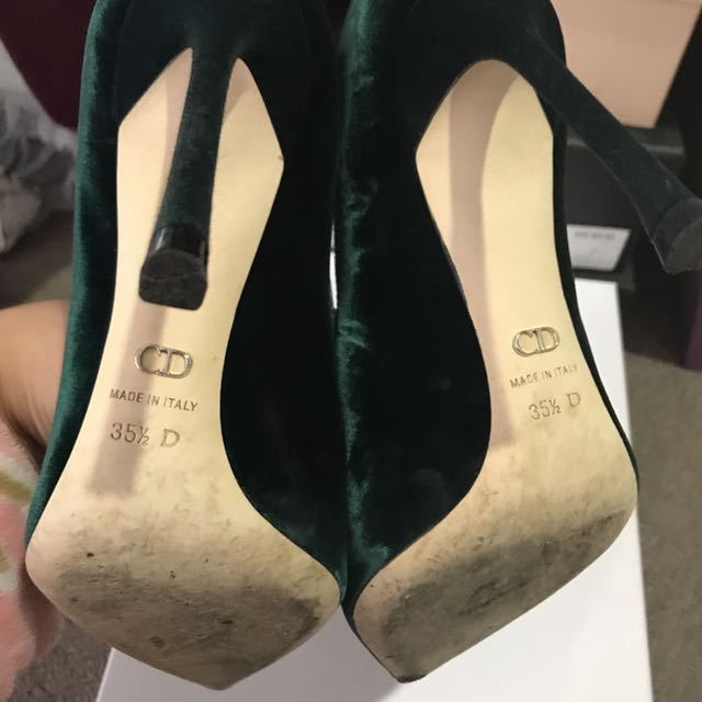 💯Authentic Christian Dior Tresor Velvet Pumps Heels Size:35.5