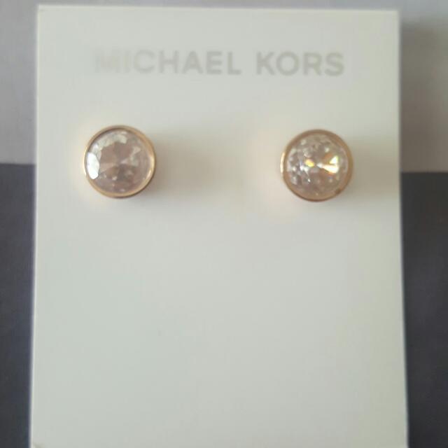 Authentic MICHAEL KORS Rose Gold Stud Earrings