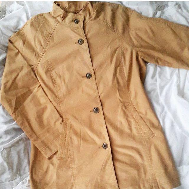 Autumn Leaf Long Warm Coat