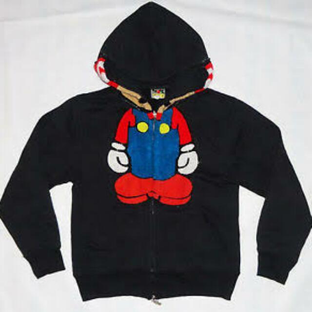 Bape X Super Mario Hoodie Full Zipper