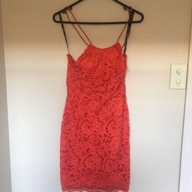 Bardot Tie Up Dress
