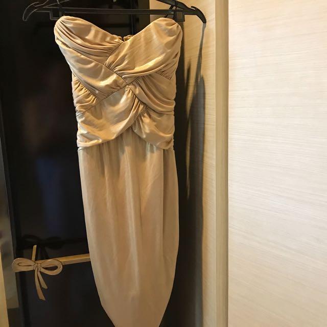 Bebe Gold Tube Dress
