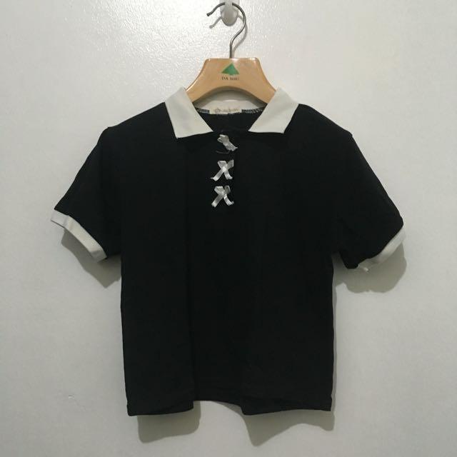 Black Collared Top