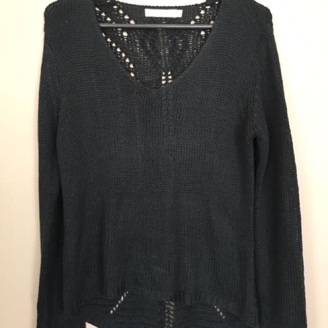 Black Knitted Top