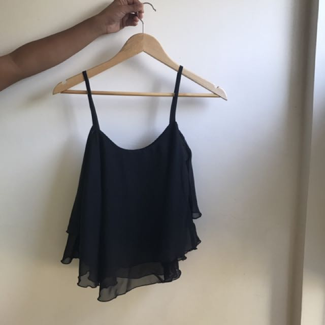 Black Summer Flows Top