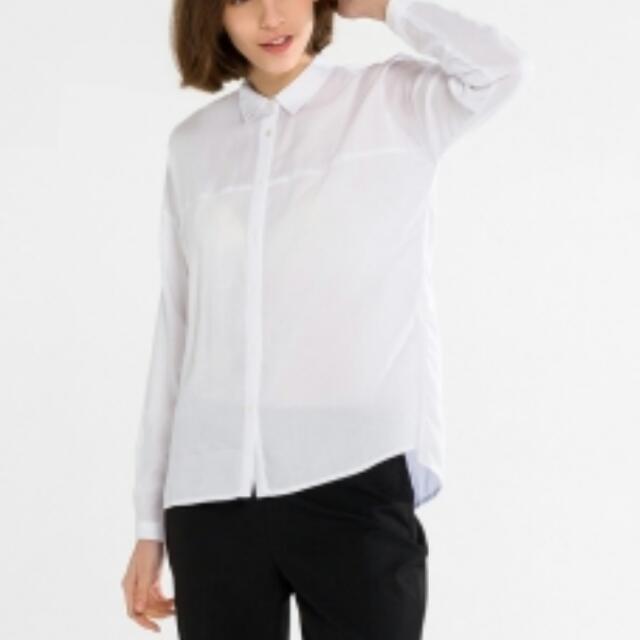d14c940a58cb70 BN w o Tag- ESPRIT Long Sleeves White Blouse