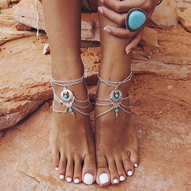 boho anklet - gelang kaki - perhiasan kaki
