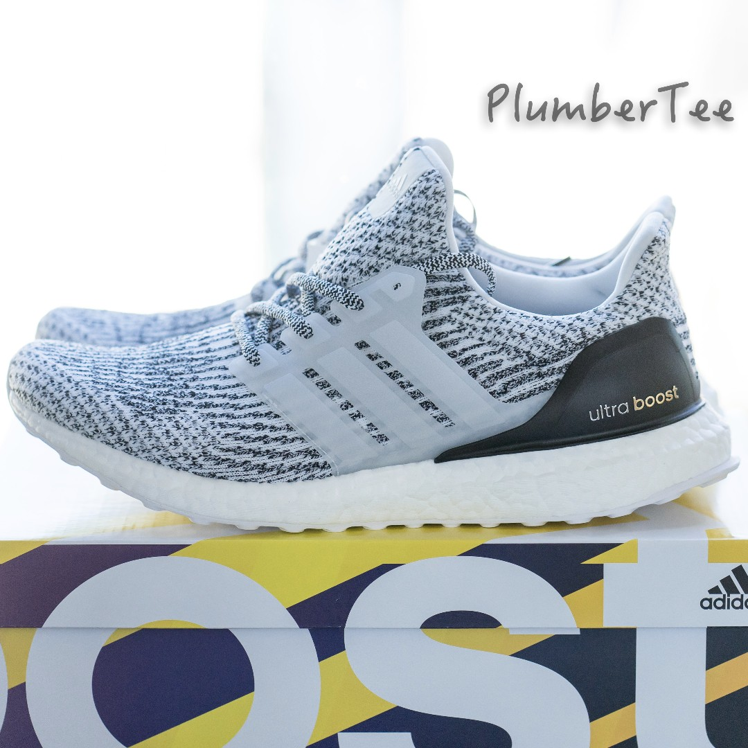US 12.5 Brand New Adidas Ultra Boost 3.0 Black White (Oreo)