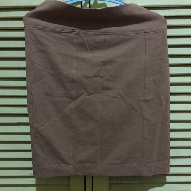 Brown Bandage Skirt