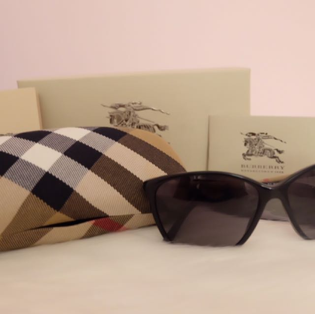 Burberry Cat Eye Polarized Sunglasses