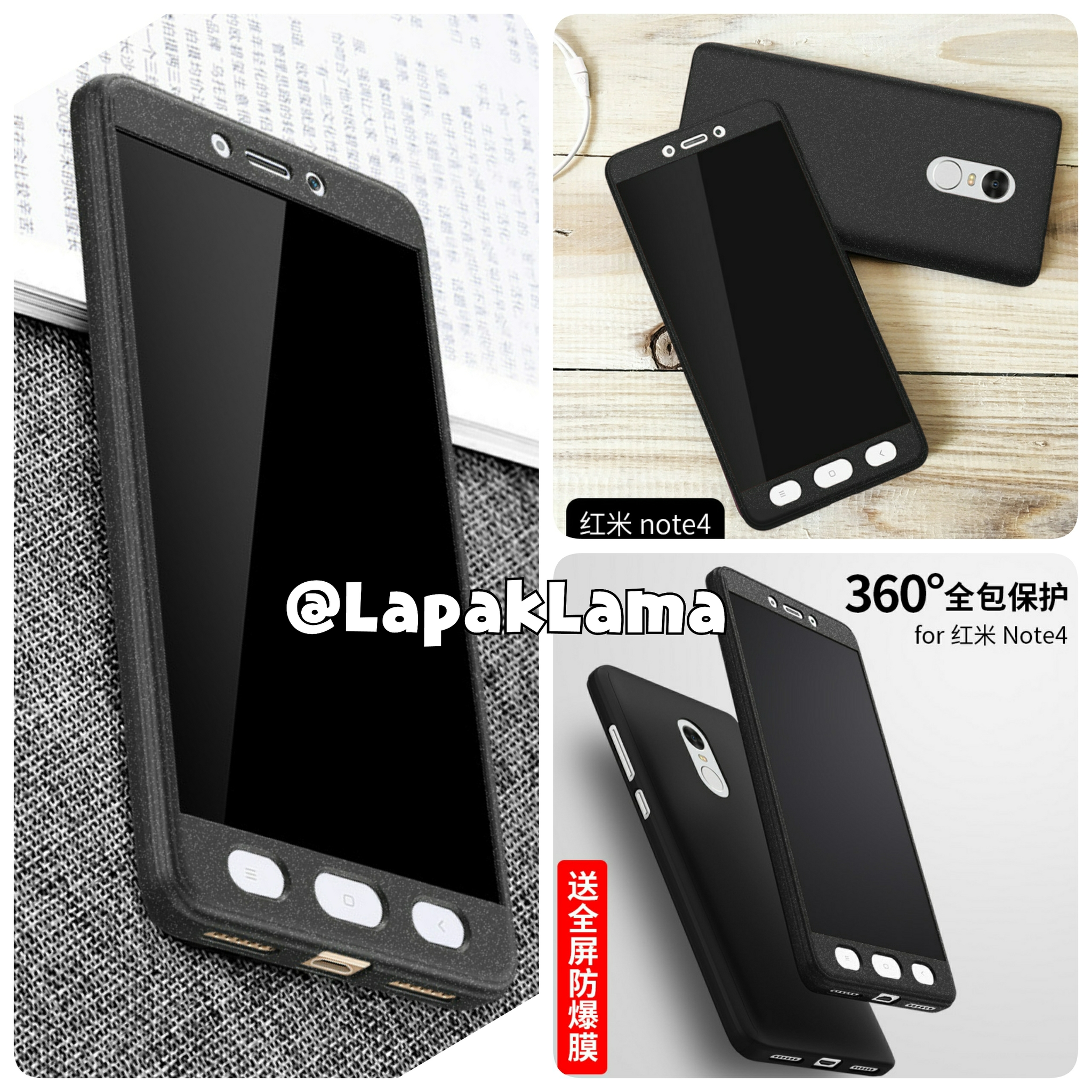 pretty nice bf472 da50d CASE IPAKY 360 Full Protective Xiaomi Redmi Note 4 Full Body Hard ...