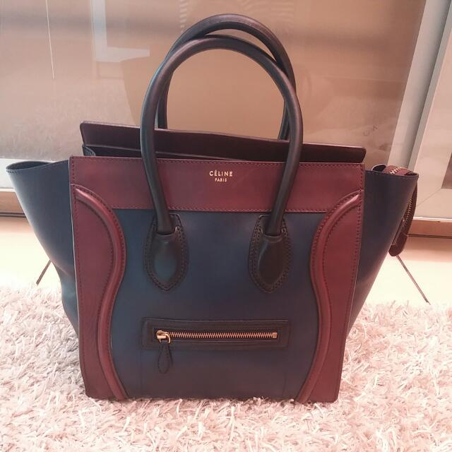 REPRICED Celine ML Blue Brown 2012 Good Condition