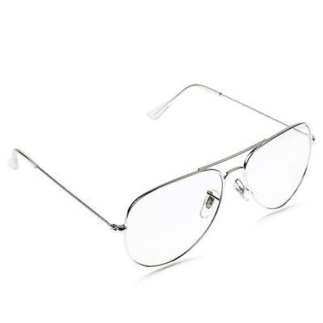 Unisex Clear Aviator Glasses