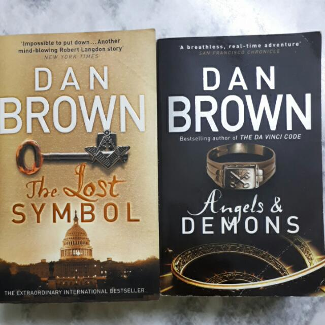 Dan Brown The Lost Symbol Angels Demons Books Stationery