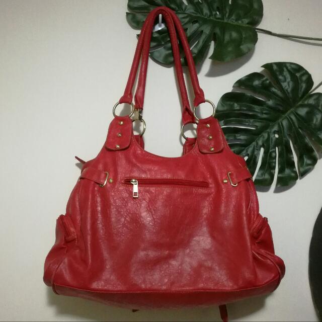 Dolce&Gabbana Original Denim Series RED Shoulder Tote Bag