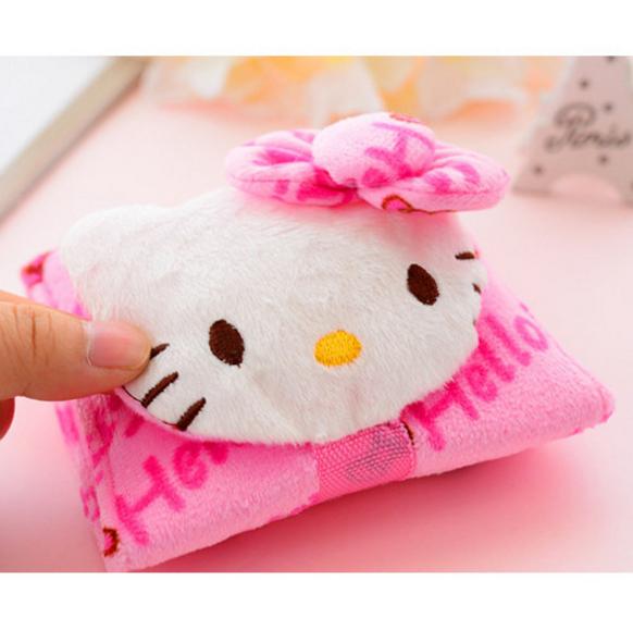 dompet uang kertas logam kosmetik lotion kartu hello kitty - HHM414