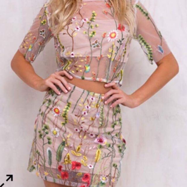 Embroidered Co-ord Set