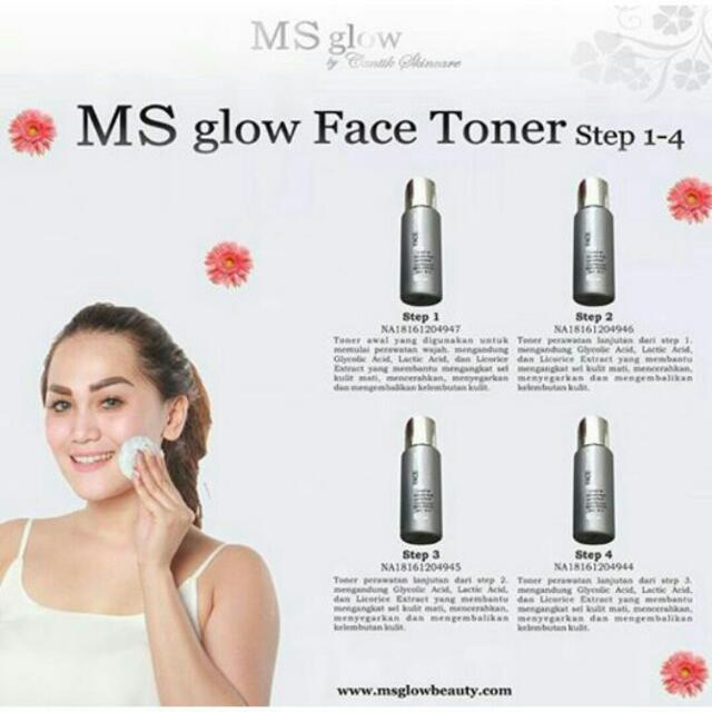 Face Toner MS GLOW ORIGINAL 100% BPOM