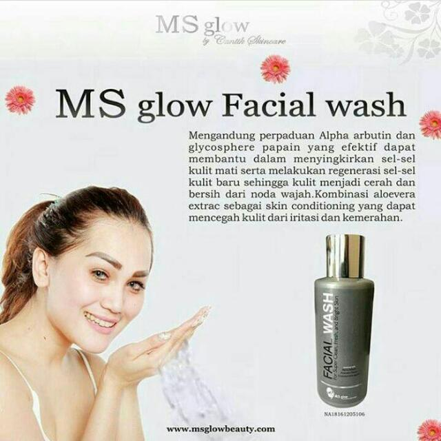 Facial Wash MS GLOW ORIGINAL 100% BPOM