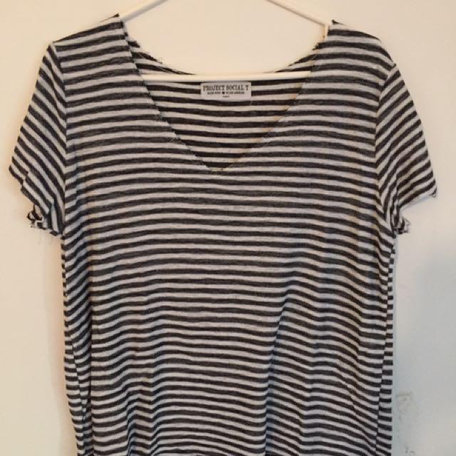 Flowy Striped T-shirt