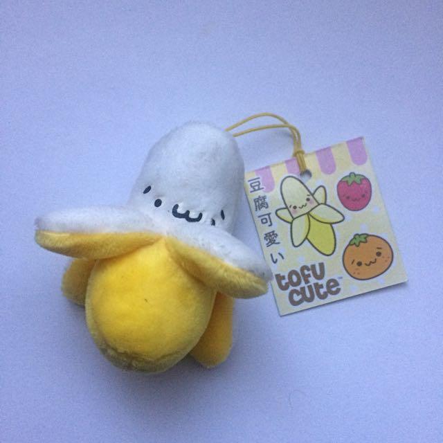 Fluffy Banana Keychain