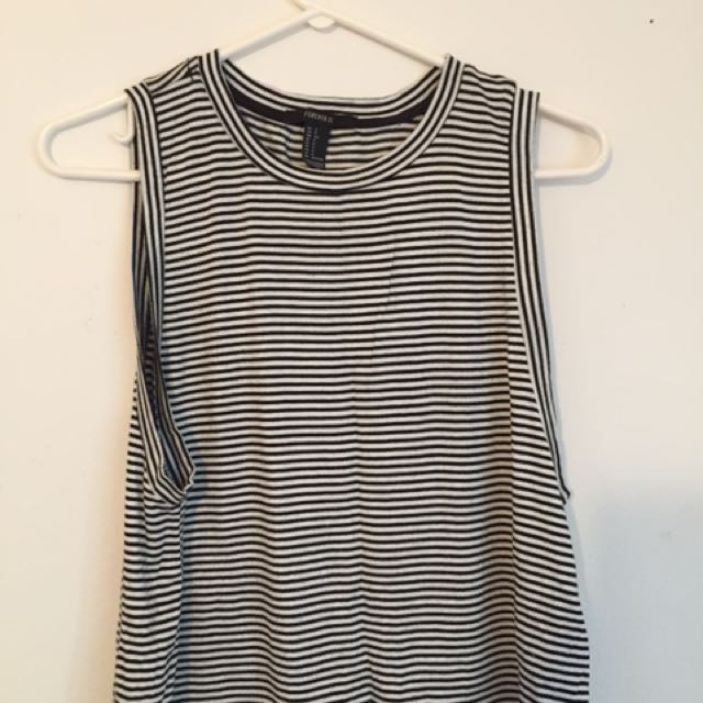 Forever 21 Flowy Striped Tank