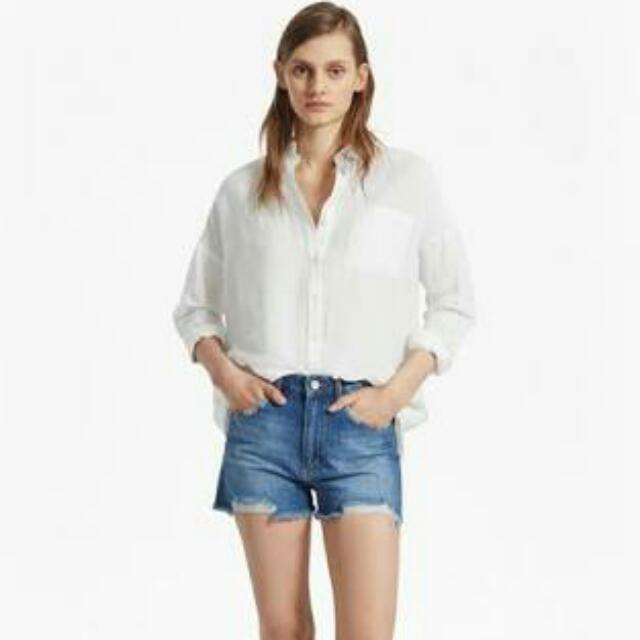 French Connection Long White Blouse
