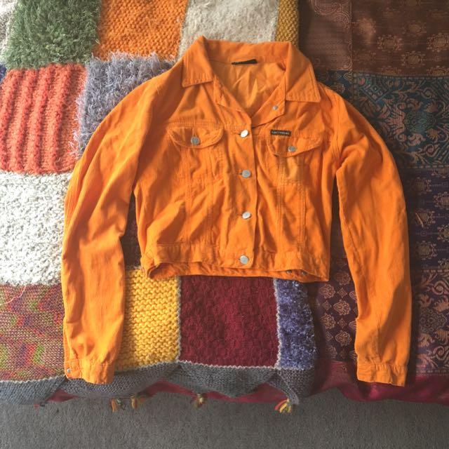 Funky Orange Corduroy Jacket