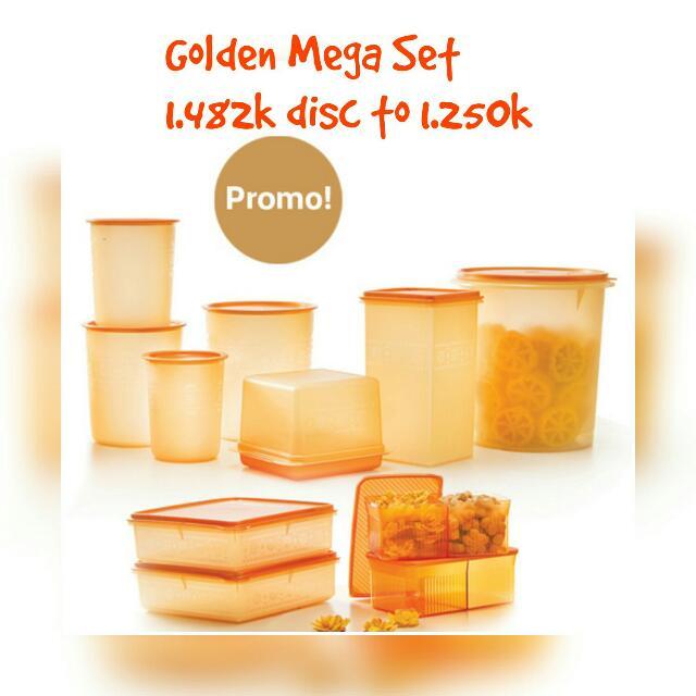 Golden Mega Set Tupperware
