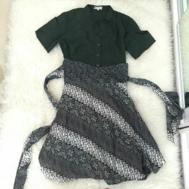 Green Batik Dress