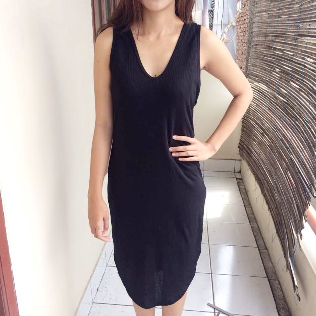 H&M Dress Bodycon Black