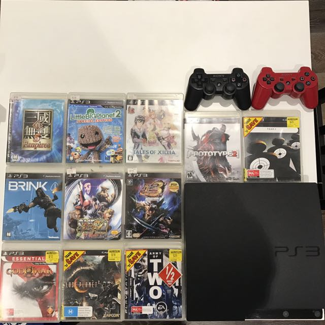 [HOT DEAL] PS3 Black With 11 Games and 2 Controllers
