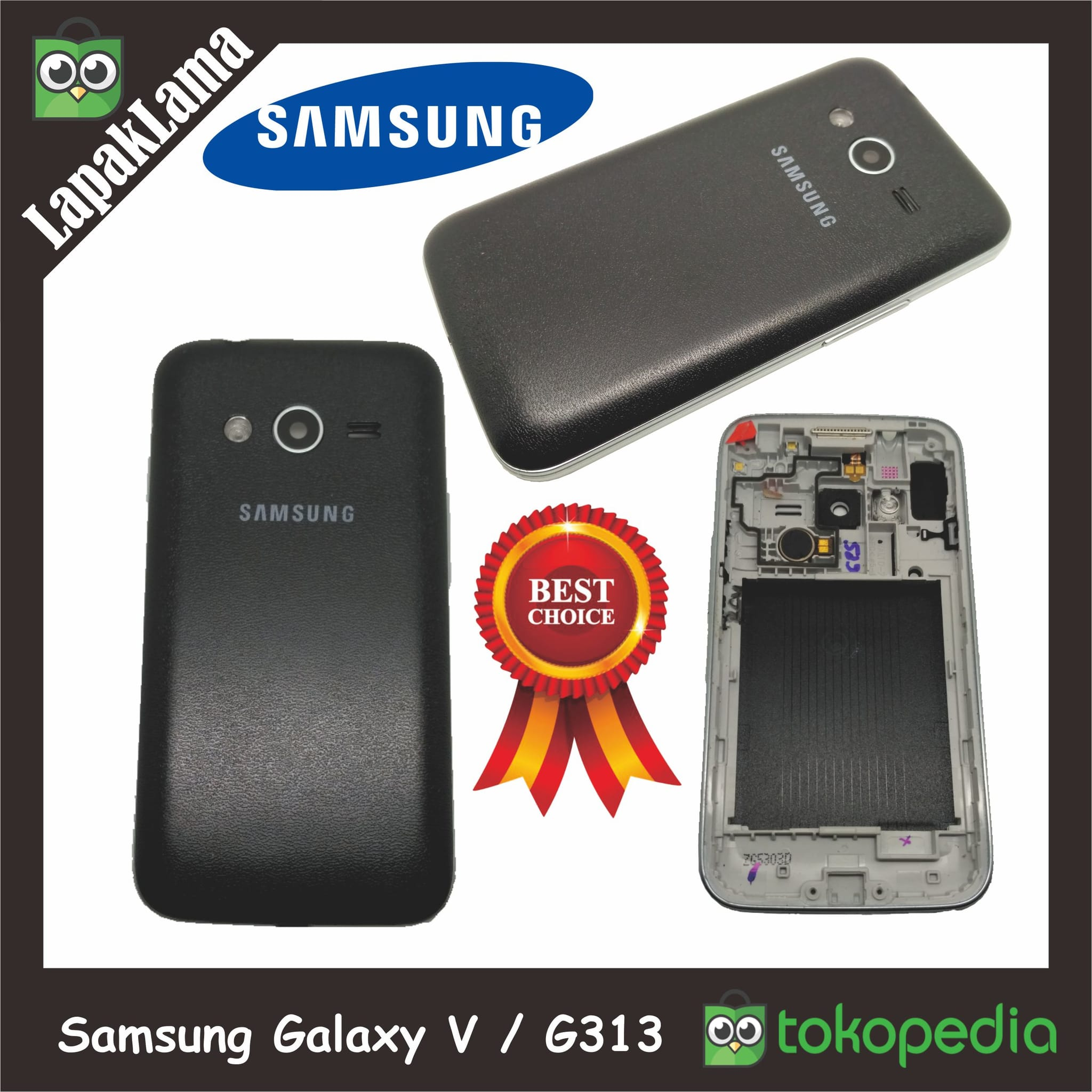 Housing Tutup Belakang Baterai Samsung Galaxy V G313 Back Cover Casing