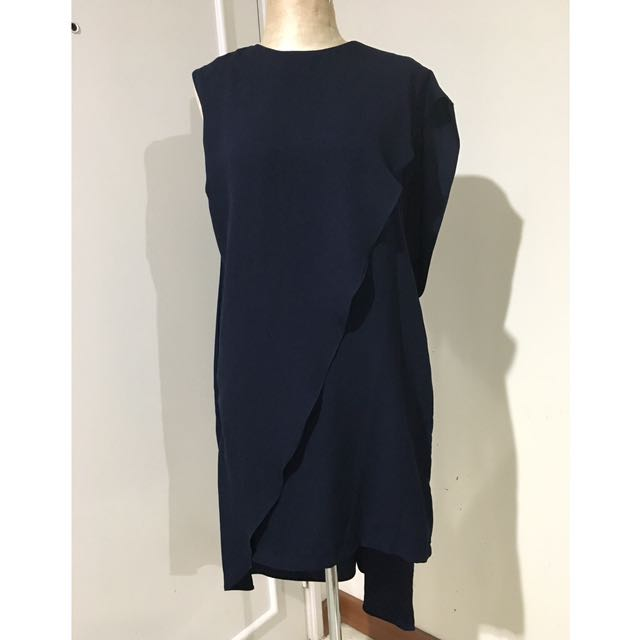 HUNTING FIELDS asymmetrical draped dress