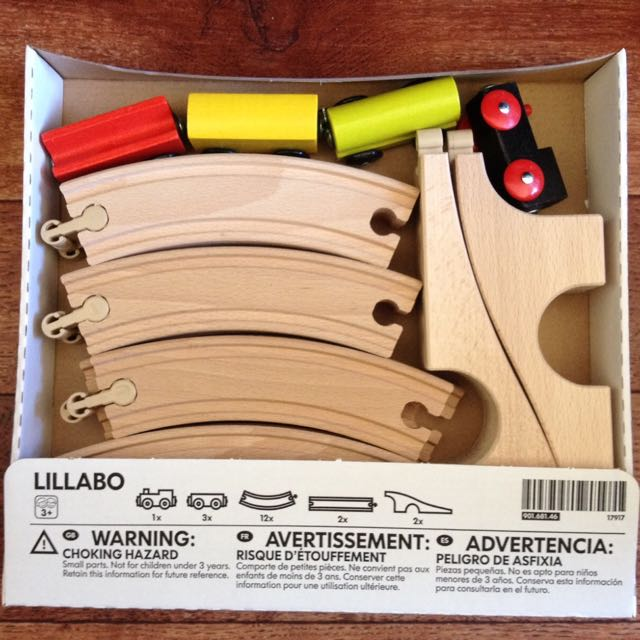 Ikea Lillabo Wooden Train Set