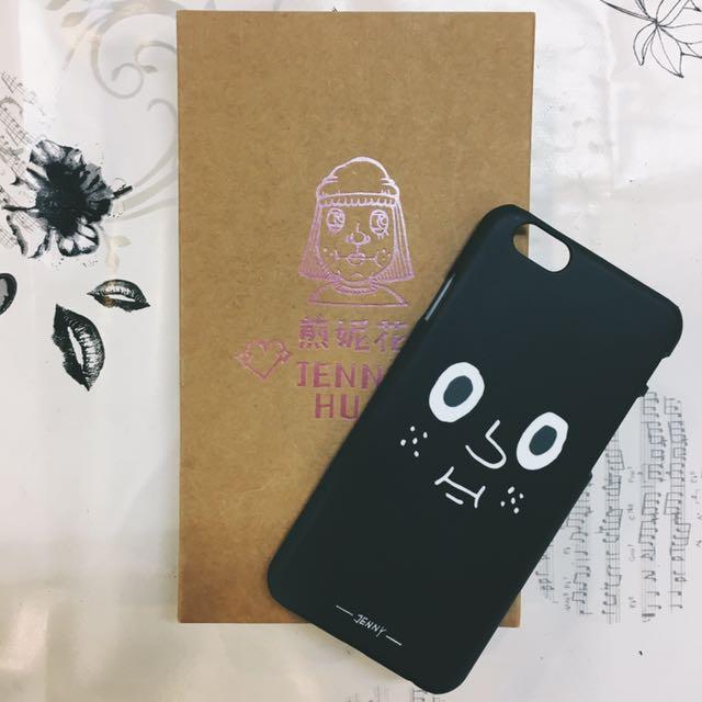 iPhone 6/6s珍妮花黑色表情硬殼