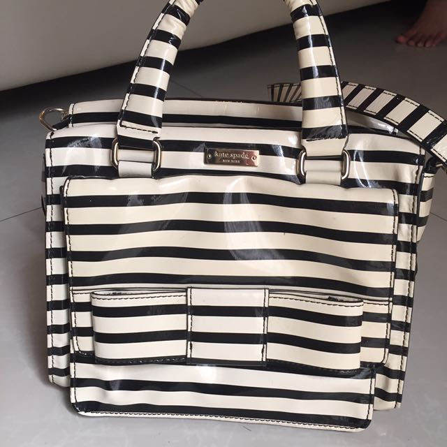 Kate Spade Striped Bow Bag