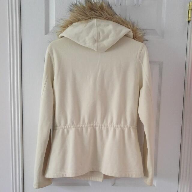 Lucky Brand Jacket With Fur Trim Hood